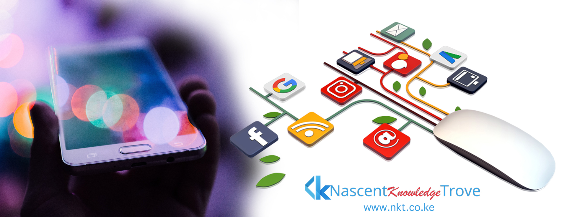 Nascent Knowledge Trove (NKT) Websites & Mobile Apps Development, Visuals Production, Digital Marketing and Data Analytics.